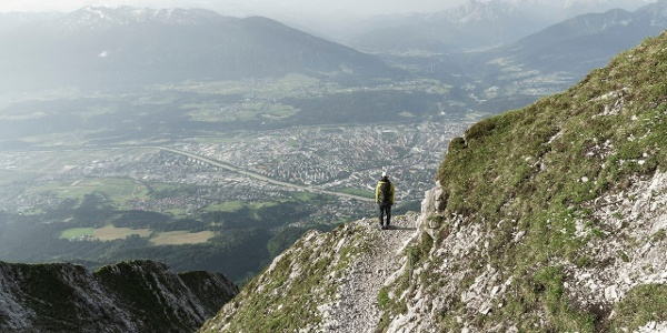Goetheweg mit Blick auf Innsbruck