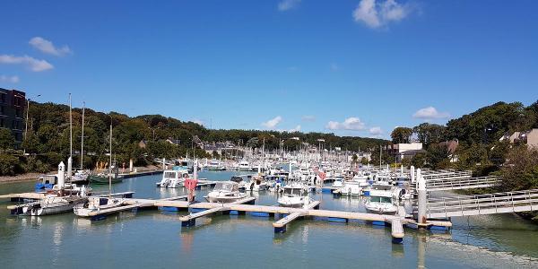 der Jachthafen von Saint-Valery-en-Caux