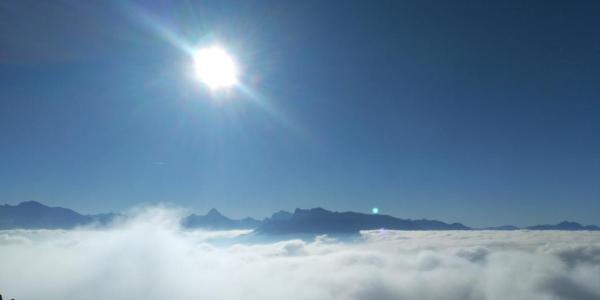 Panorama über den Wolken