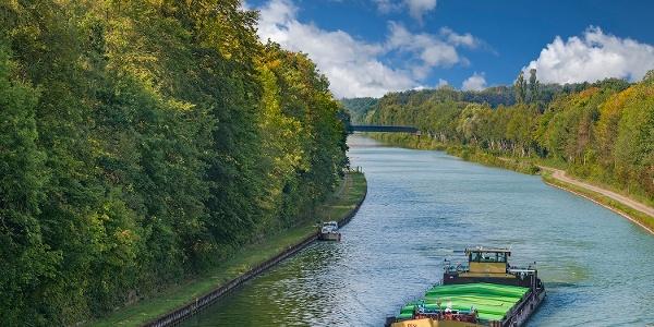 Mittellandkanal, Kanalbrücke Niedernwöhren nach Westen