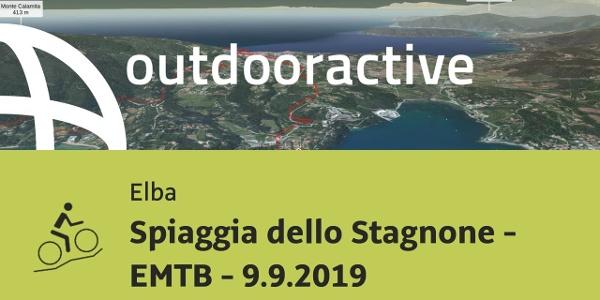 Mountain bike in Elba: Spiaggia dello Stagnone - EMTB - 9.9.2019