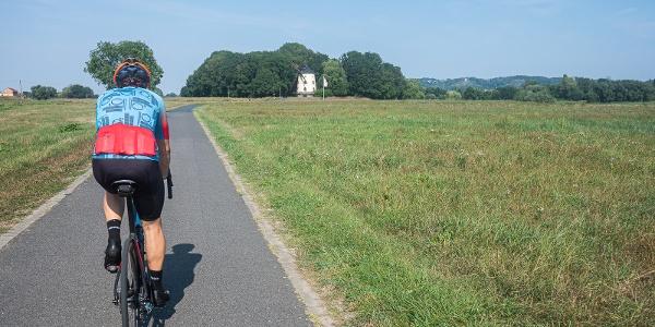 Elberadweg in Gohlis