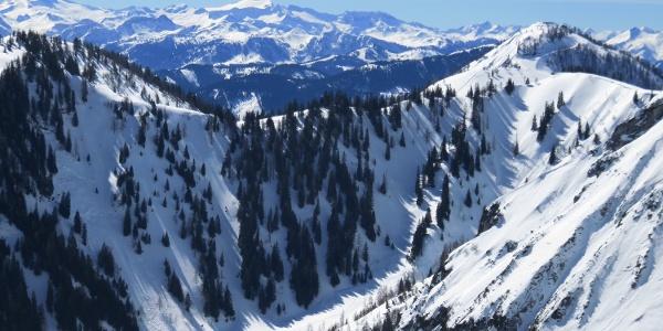 Sicht zum Alpenhauptkamm