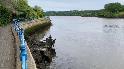 Keel wreck on Tyne