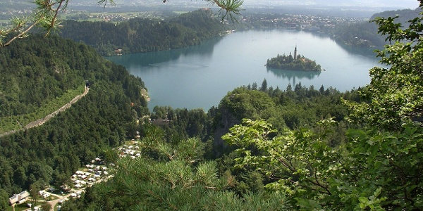 View on Camping Bled