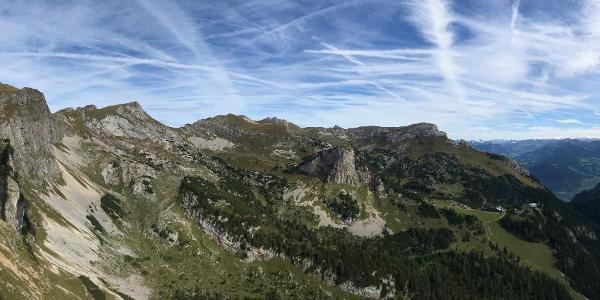 Panoramabild v. Rotspitz.  Rofangruppe