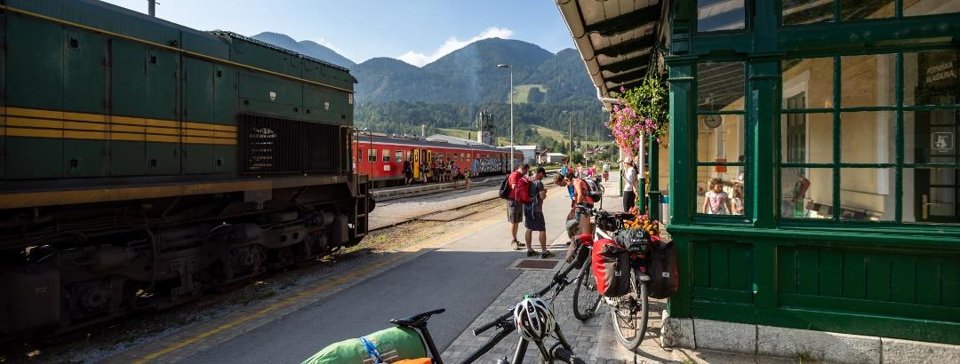 Rides with train on Bohinj Railway