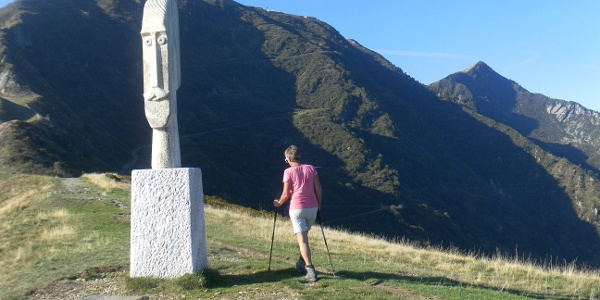 Monte Tamaro aus dem Skulpturenpfad