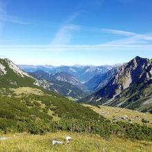 Blick zurück ins Tal von der Oberzalim-Hütte aus
