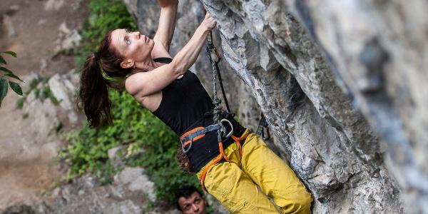 Isolde Lahaye op de Rocher Principal