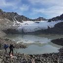 Abstieg zur Winnebachseehütte - Rückblick zum Bachfallferner