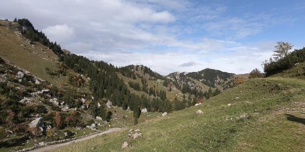 Blick zum Taubensteinhaus