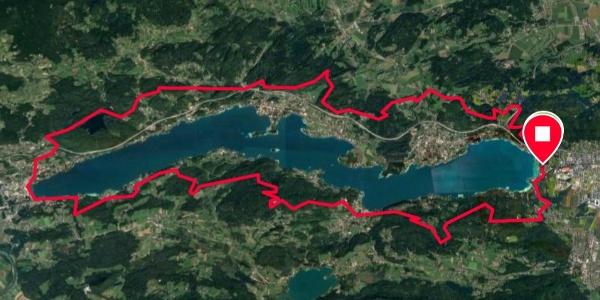 der Wörthersee-Trail mit Start/Ziel (auf der Graphik ohne Goritschitzen-Schleife, 1 km)