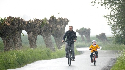 Auch bei Schietwetter macht das Radfahren auf dem Weindentörn Spaß