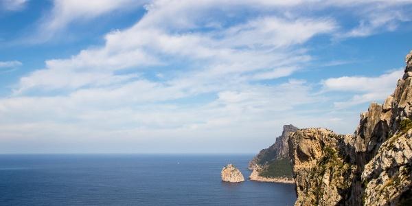 Postkartenmotiv während des Zustiegs am Cap de Formentor.