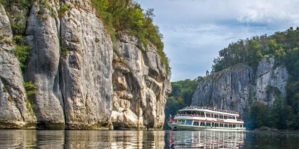 Schifffahrt durch den Donaudurchbruch bei Kelheim