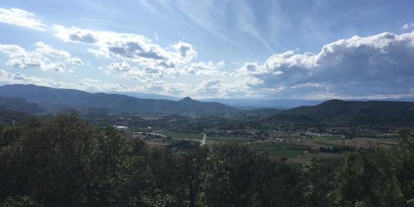 Ausblick in die Hügel der Ardeche