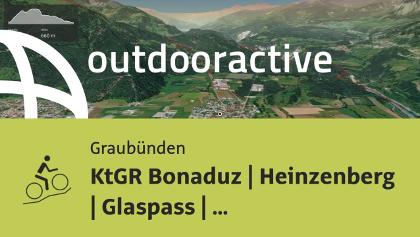 Mountainbike-tour in Graubünden: KtGR Bonaduz | Heinzenberg | Glaspass | Safiental | Reichenau
