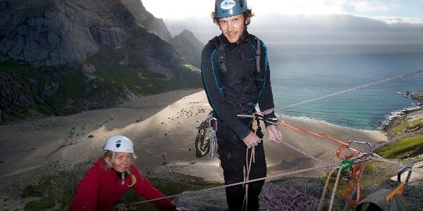 Climbing at Bunes