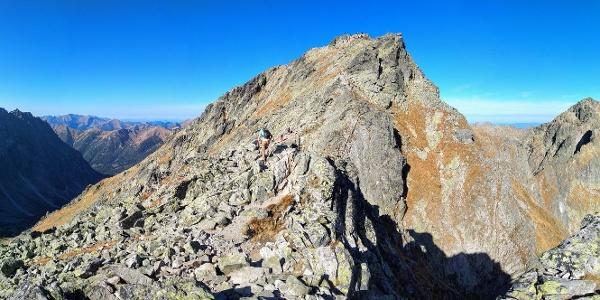 Kôprovský štít at 2363 m ahead