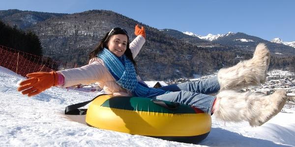 Der kleine Skiort Bolbeno ist ideal für diejenigen, ob groß oder klein, die zum ersten Mal auf Skiern stehen