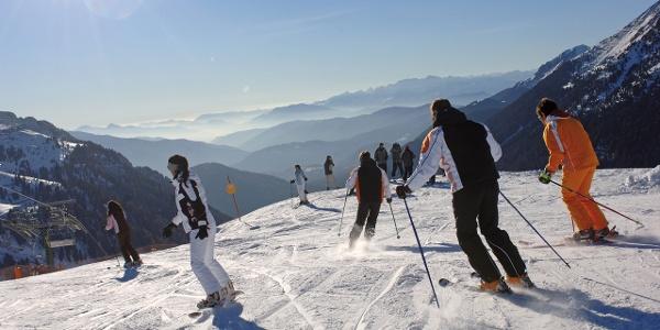 Pampeago-Predazzo-Obereggen, das größte Skikarussell des Skigebiets Val di Fiemme-Obereggen
