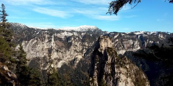 Blick zur Hexennase und zum Untersberg