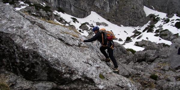 Klettertour im Schwierigkeitsgrad III: Anderl's Neubeginn (Aufbaukurs Fels und Firn)