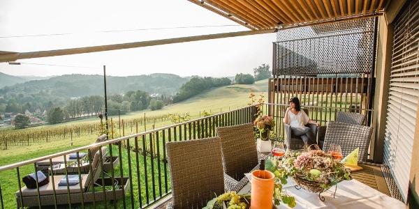 Wohnen im Wein Terrasse