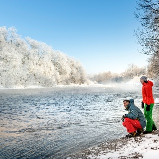 Winterwanderung entlang der Isar