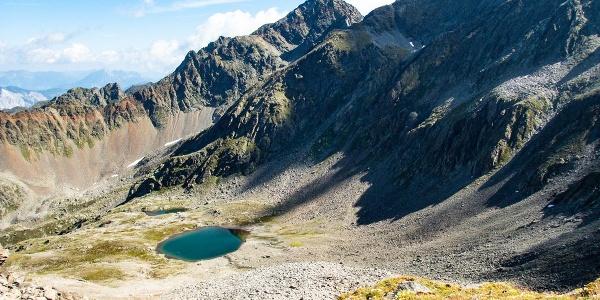 Blick von unserem ersten Gipfel, dem Hohen Gemeindekopf Richtung Wildgrat.