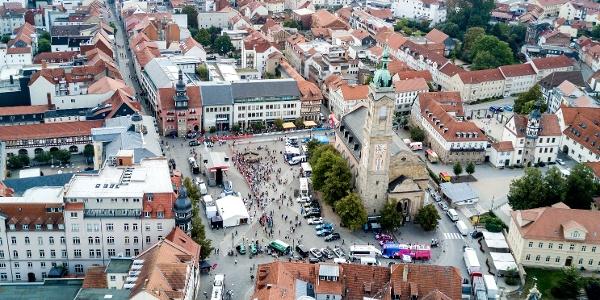 Eisenacher Marktplatz zur Deutschland Tour 2019