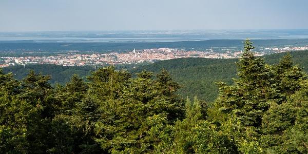Sopron a Várhely-kilátóból