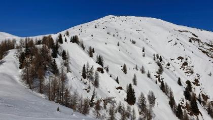Blick auf den Gipfel des Golzentipp