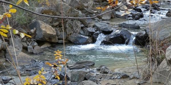 Am Oberlauf des Karkotis Flusses