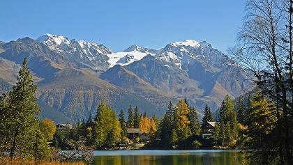 Le Lac de Champex face au Grand Combin