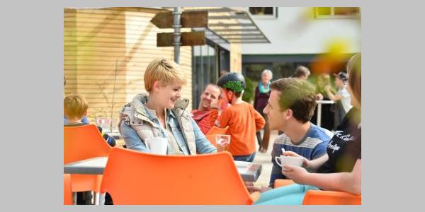 Außenbereich des Cafe Monbachtal in Bad Liebenzell