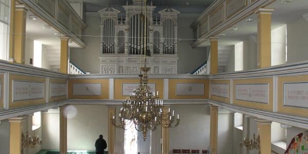 Innenraum der Langenwolschendorfer Kirche