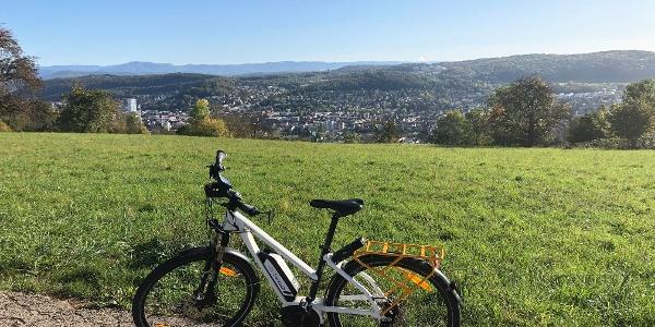 Aussicht Tüllinger Berg in Richtung Lörrach