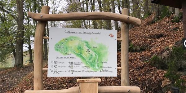 Eingangstafel Erlebnisweg Luisenpfad