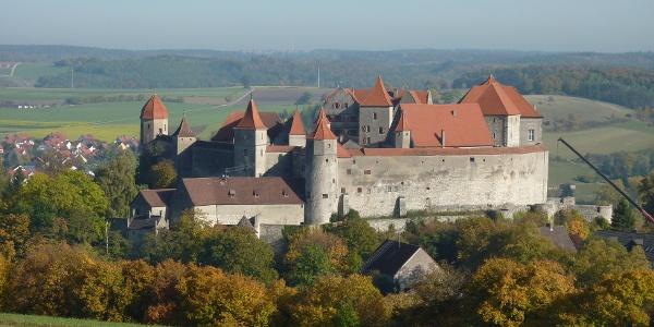 Blick auf Schloss Harburg