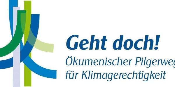 Logo: Ökumenischer Pilgerweg für Klimagerechtigkeit / Ecumenical Pilgrimage for Climate Justice
