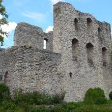 Die Burgruine in Bad Lippspringe
