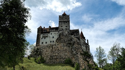 """Bran Castle, commonly referred to as """"Dracula's Castle"""""""