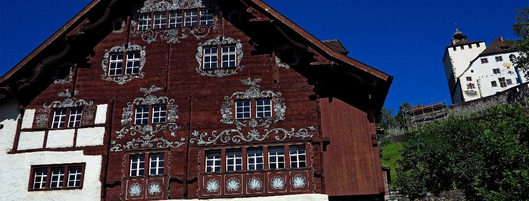 Schlangenhaus und Schloss Werdenberg.