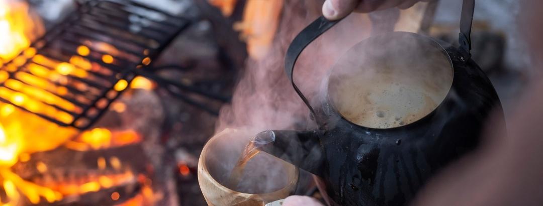 Salla fire and coffee
