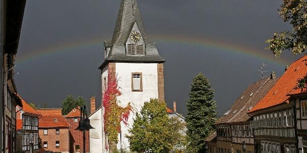 Sophienkirche mit Regenbogen