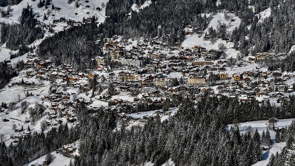 Wengen Dorf Winter