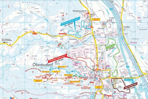 Loipenplan Oberaudorf