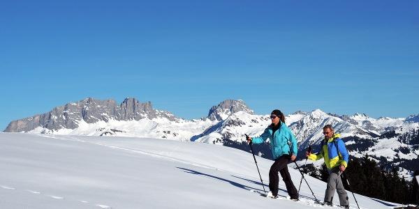 Schneeschuhwandern auf Grüsch-Danusa im Prättigau